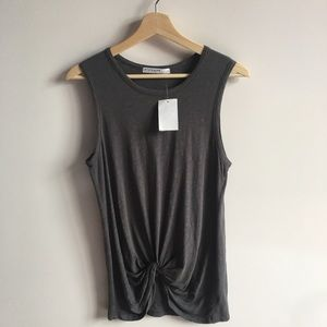 NWT Stateside Twist Front Tank in Charcoal